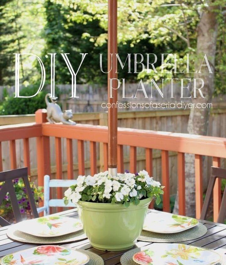 Diy Umbrella Planter Hometalk