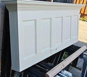 Wall Mounted 5 Panel Old Door Headboard Painted Popcorn White, Bedroom  Ideas, Doors,