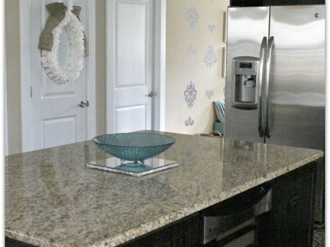 the secret to easy clean granite you won t find under the kitchen sink, cleaning tips, kitchen design, Boom You re done Clean and shiny granite the easy way