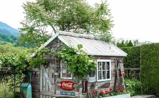 the little rustic garden shed that tells a story, flowers, gardening, outdoor living, repurposing upcycling, woodworking projects