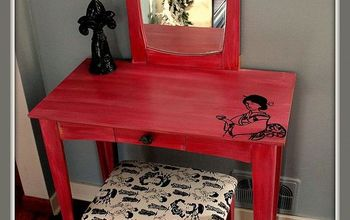 outdated vanity turned asian inspired beauty, home decor, painted furniture, the Finished vanity