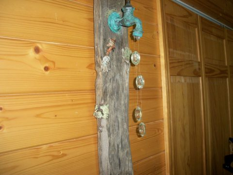 This was my first because I found a copper faucet that I fell in love with. The patina turned out a lot more vivid than I had imagined.Plus the pallet wood was very old