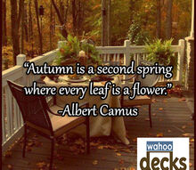 what s your favorite thing about fall, decks