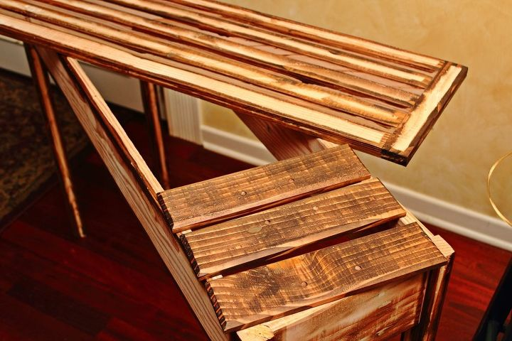 how to build a sofa table with drawers