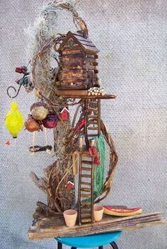 bayou fairy garden, gardening, Bayou Fair Garden 36 tall Handmade by Backwater Studio