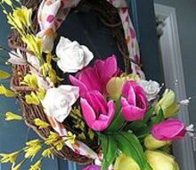 a new spring wreath, seasonal holiday d cor, wreaths