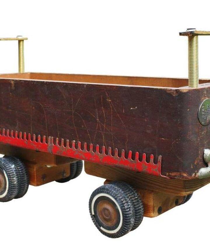 repurposed sewing machine drawer wheel car, crafts, repurposing upcycling