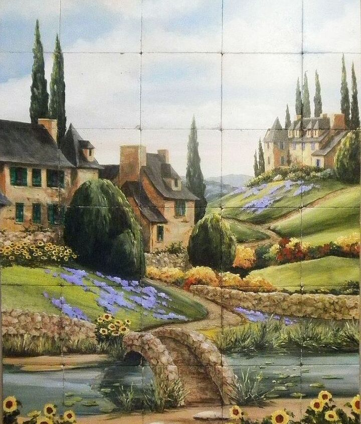 La Petite Chateau is a mural created for the client's front courtyard wall.