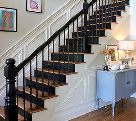 Incroyable Mini Makeover Paint Your Banister Black Hometalk