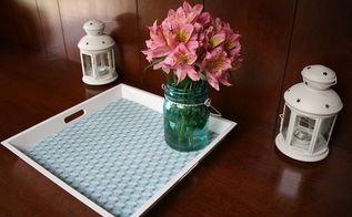 diy tray makeover, crafts, home decor