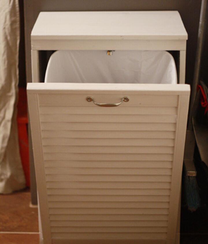 Trash cabinet open