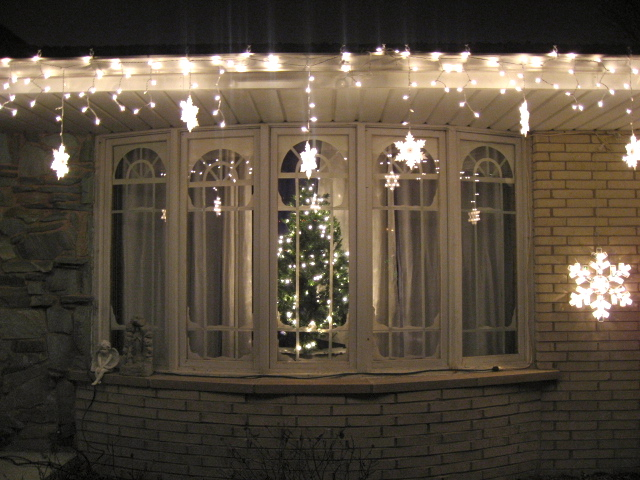 Here is the finished product from the outside looking in.