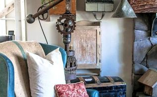 a repurposed oil funnel gear junk lamp only a tetanus shot could love, home decor, lighting, repurposing upcycling, The result is chuckles and laughs all day long in the very best junker kinda way