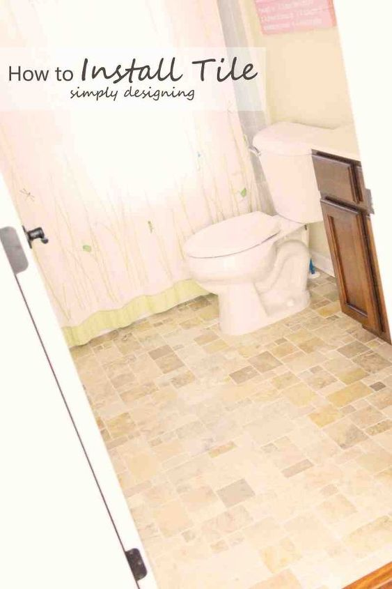 how to install tile floors, diy, flooring, tile flooring, tiling