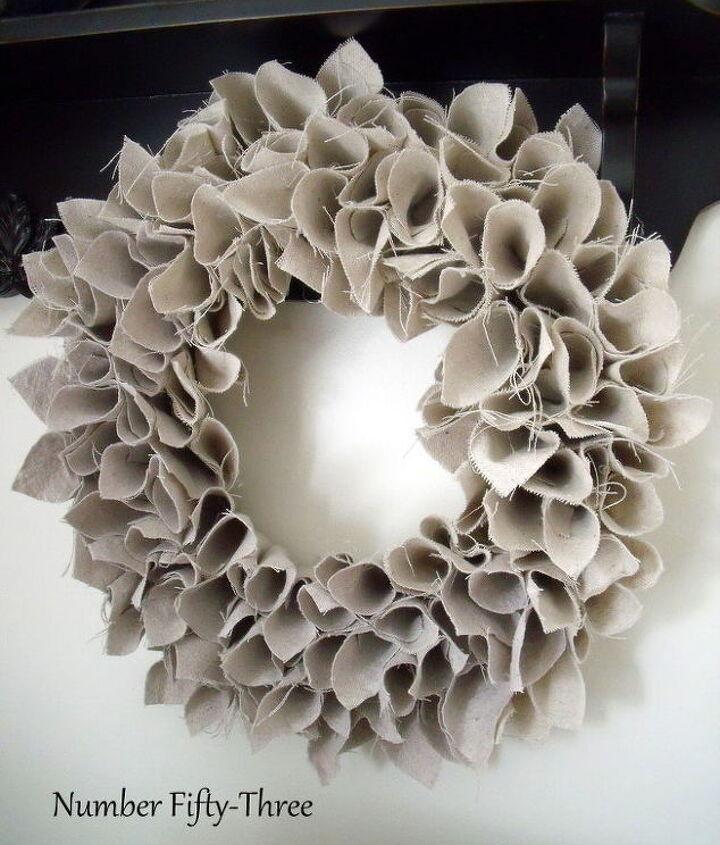 drop cloth wreath, crafts, wreaths