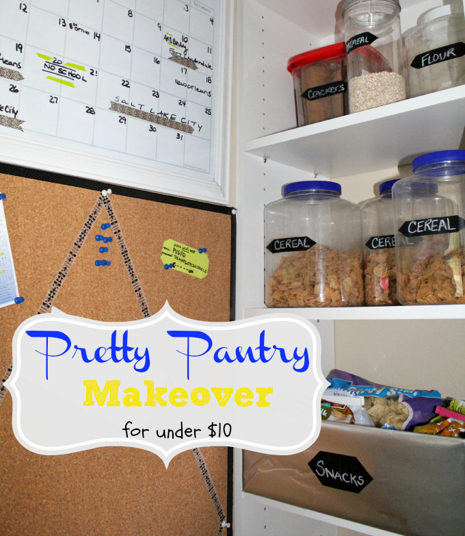 One Hour Kitchen Projects: Kitchen Storage: How To Get A Pop Of Pretty In Your Pantry