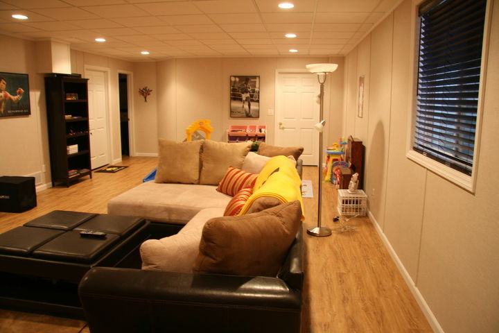 This is the brand new basement family room, Brad can now enjoy and use to spend some quality time with this daughter.