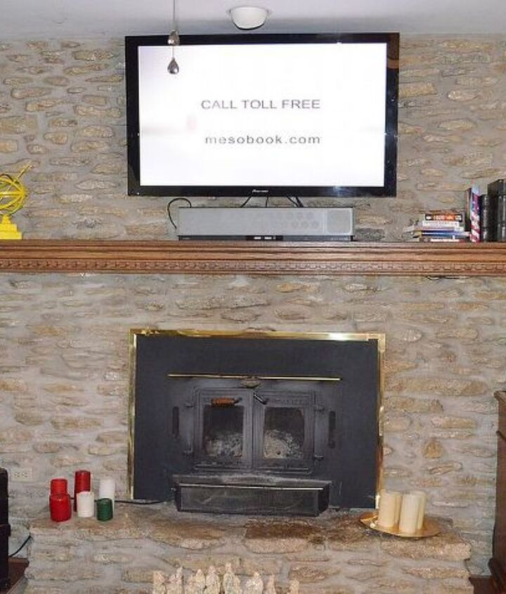 Do the ends of the mantel show?  They did in the orignal photo.