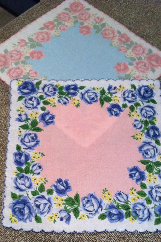 vintage hankies have found new life as a handmade baby quilt, crafts, repurposing upcycling