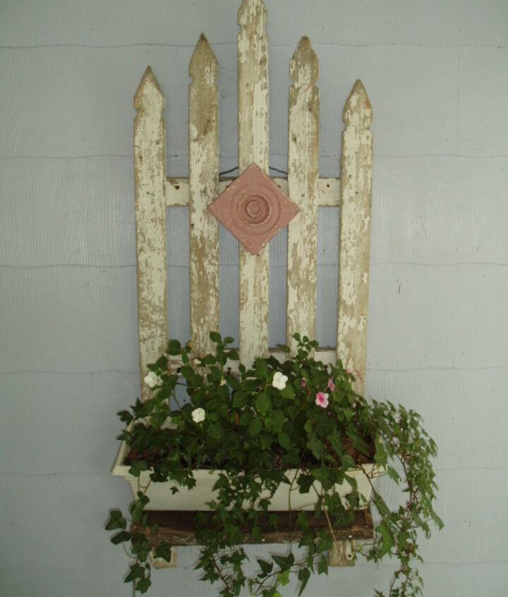 old picket fence planter, diy, gardening, repurposing upcycling