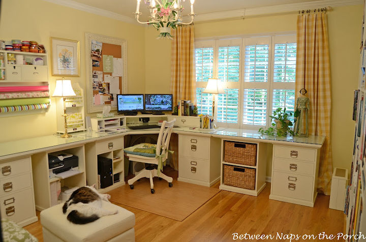 building a pottery barn inspired home office craft rooms home office there s a