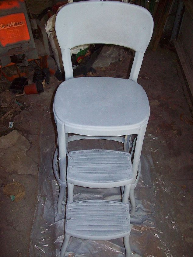 Fine Refinishing An Old Step Stool High Chair Hometalk Lamtechconsult Wood Chair Design Ideas Lamtechconsultcom