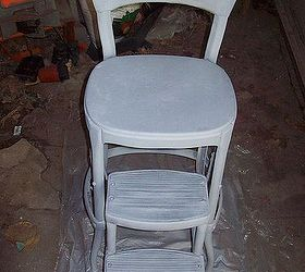 refinishing an old step stool high chair painted furniture Primed and ready for paint & Refinishing an Old Step-stool High Chair | Hometalk islam-shia.org