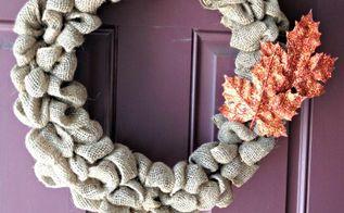 easy burlap wreath tutorial, crafts, wreaths