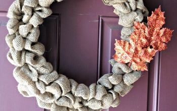 easy burlap wreath tutorial, crafts, wreaths