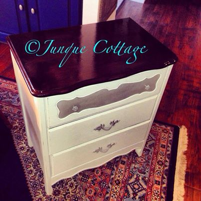 refinished small chest, painted furniture
