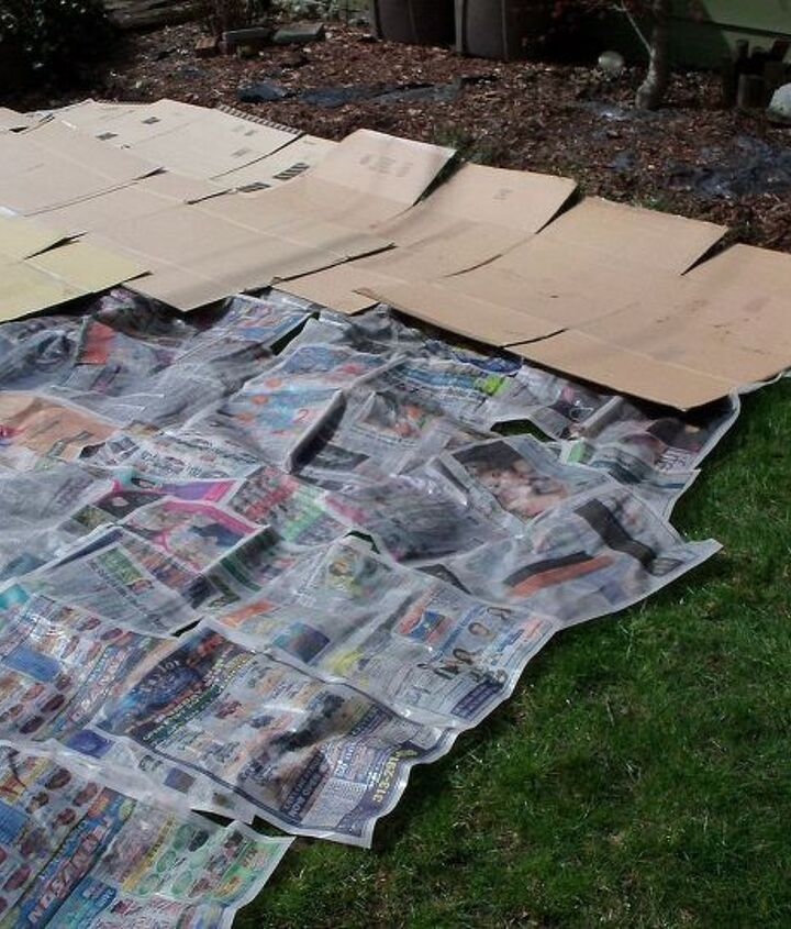 covered tthe newspaper with cardboard