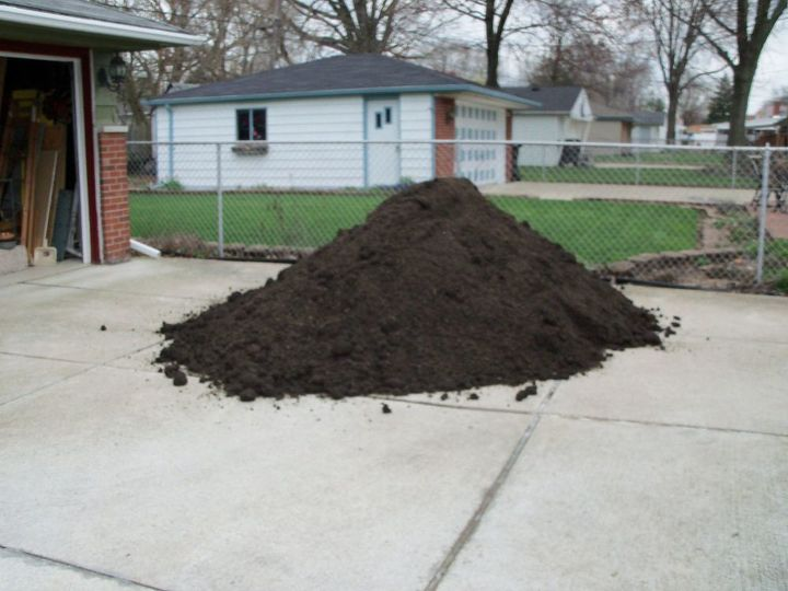 Thought that 5 yards of garden soil would be enough to cover the yard- NOPE- only covered half- Had to order 5 more yards. Mulch is on order for after the planting!