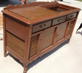 New life to an old record player/stereo cabinet | Hometalk