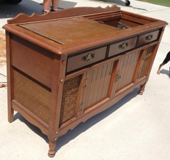 New Life To An Old Record Player Stereo Cabinet Painted Furniture Repurposing Upcycling