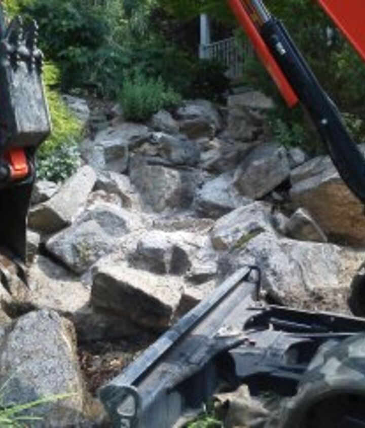 Before: Non Functioning Pondless Waterfall in Long Valley, NJ