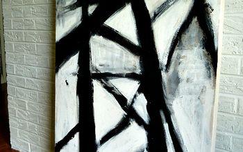 West Elm Hack// B +W Abstract Art