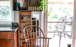 make more kitchen space with an old crates phone station, home decor, kitchen design, repurposing upcycling, shelving ideas, storage ideas, Stacking old crates on top of a little shelf