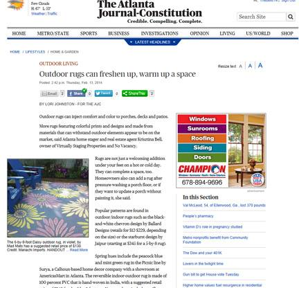 outdoor rugs warm up outdoor living spaces ajc article, flooring, outdoor living, Photo courtesy of editor Lori Johston of AJC