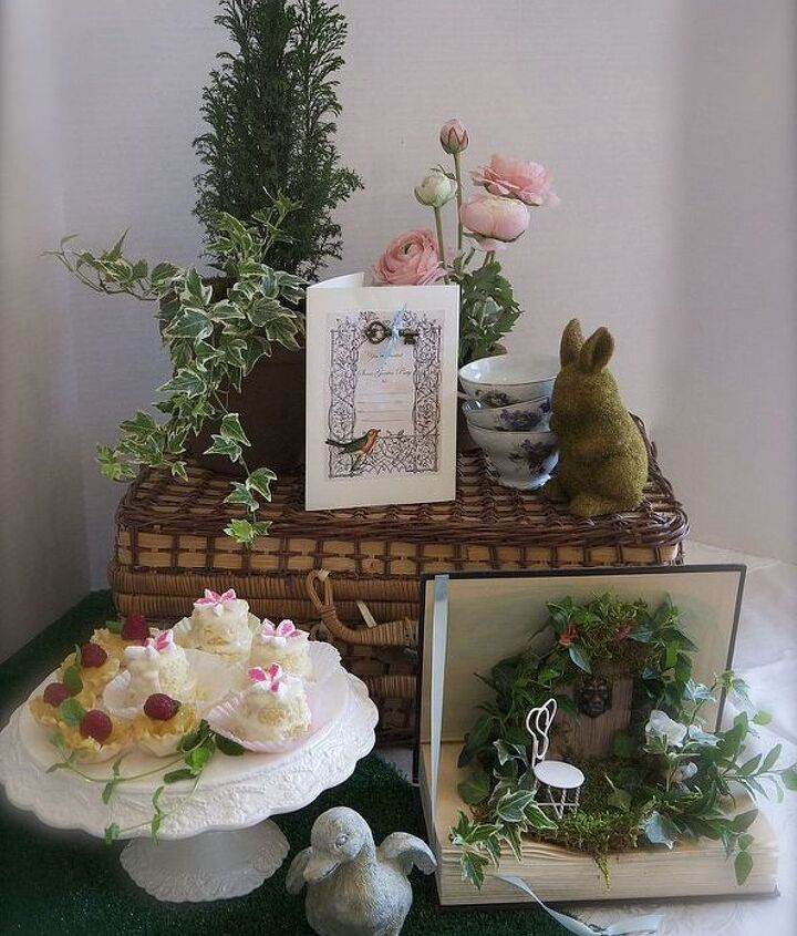 Used with tablescape for secret garden tea party