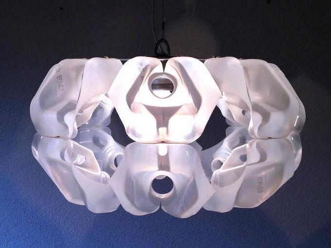 milk carton upcycled into milkshell2 lampshade, diy, lighting, repurposing upcycling, upcycle The finished MilkShell2 lampshade