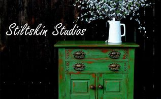 revamping vintage finds, painted furniture, All finished including two coats of wax to really bring out the color