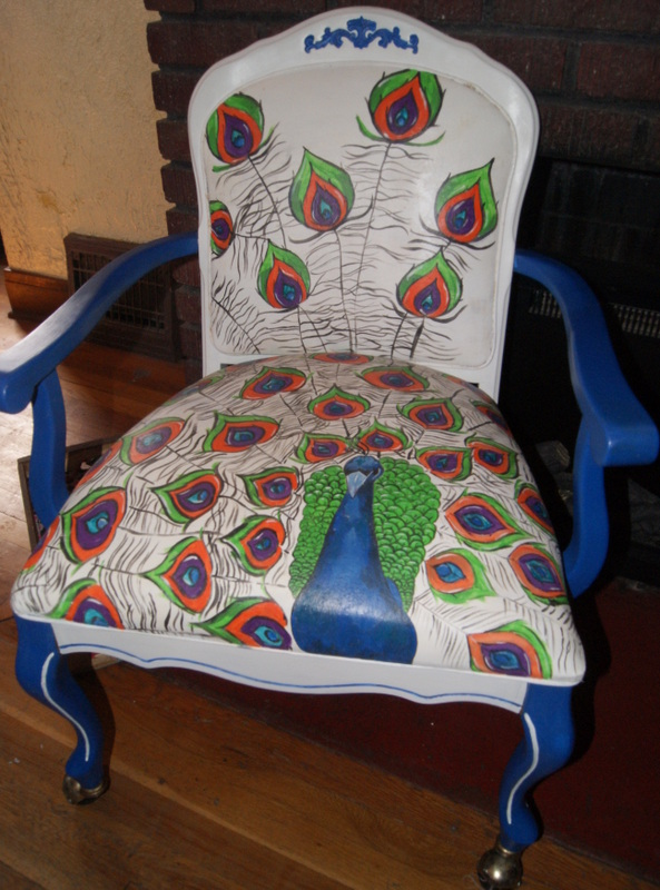 painted chair with a twist, chalk paint, painted furniture