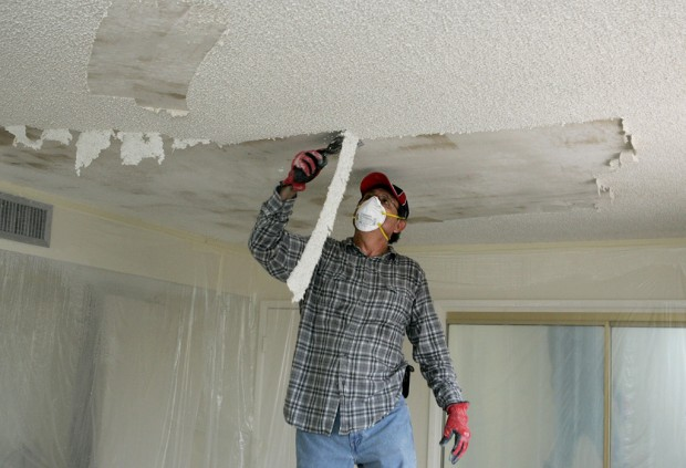 Removing A Textured Ceiling Diy Home Maintenance Repairs How To Paint Colors
