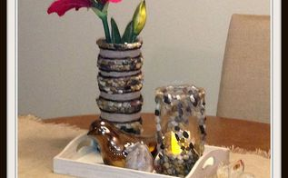 easy diy vase candle set, crafts, Finished Easy DIY Vase Candle Set made by Hello I Live Here