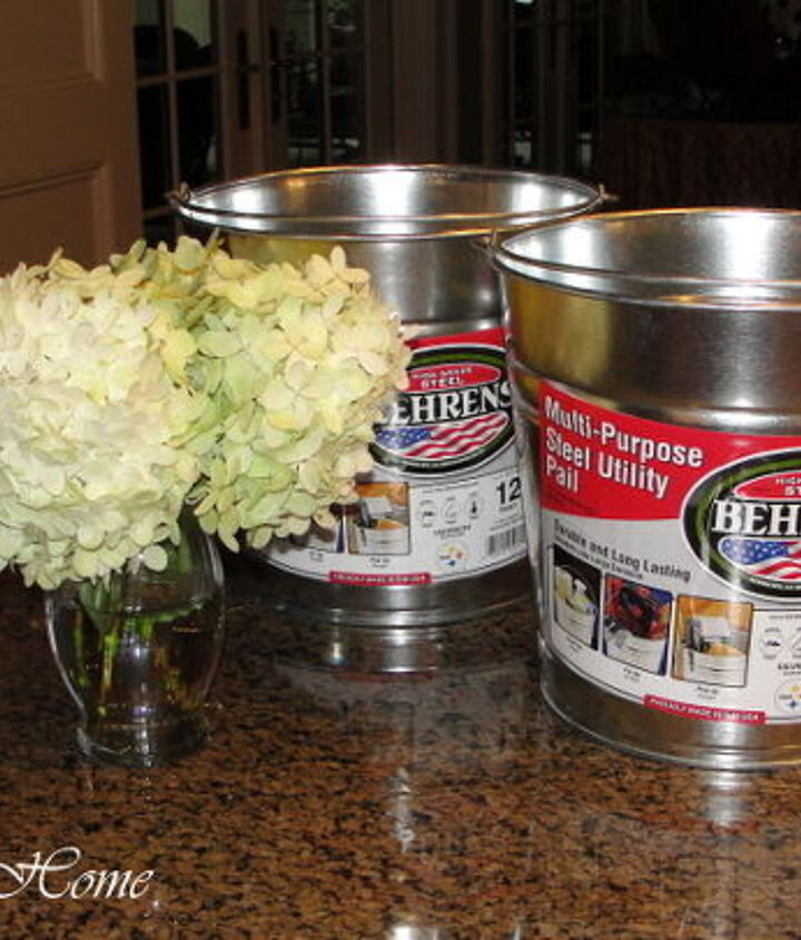 2 galvanized buckets from Lowe's in the size of your choice