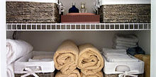 organize your linen closet, closet, organizing, Master Bath Linen Closet