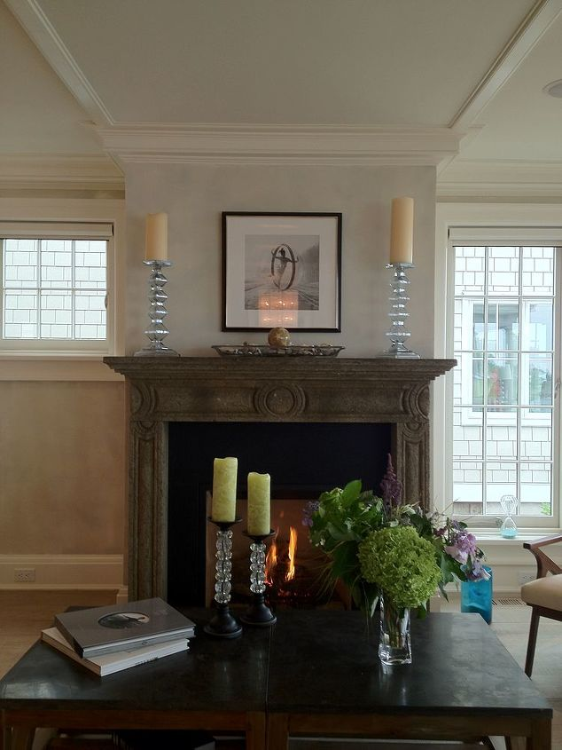 The handmade family room Burgisser fireplace mantel was imported from Italy. The fireplace is a direct vent gas fireplace. http://www.recuperando.it/en/Pagine/Output/Out__Default.asp?IDArt=5984