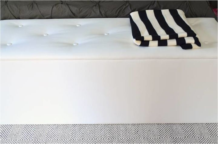 diy storage ottoman, painted furniture