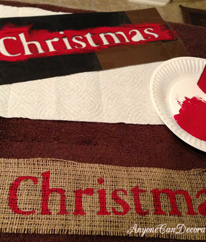 diy burlap christmas tree garland, christmas decorations, crafts, seasonal holiday decor