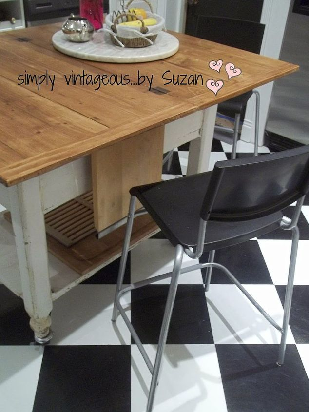adding height to a table, painted furniture